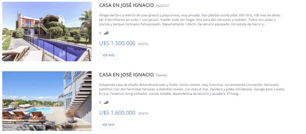 Ejemplo de buscar sin mapa en Punta For Sale